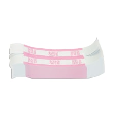 Currency Straps Pink 250 Pack Of