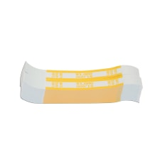 Currency Straps Yellow 1000 Pack Of