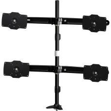 Amer Mounts Grommet Based Quad Monitor