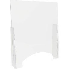 Lorell Countertop Freestanding Barrier With Pass