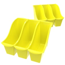 Storex Book Bins Medium Size Yellow