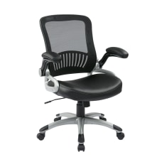 Office Star Work Smart MeshBonded Leather
