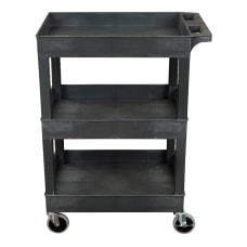 Luxor 3 Shelf Plastic Utility Cart