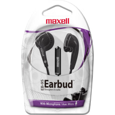 Maxell EB 95 Earbuds With Microphone