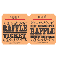 Amscan Raffle Ticket Roll Orange Roll