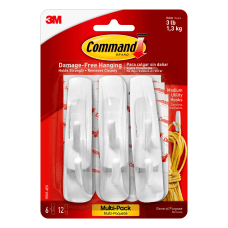 3M Command Utility Hooks Medium White