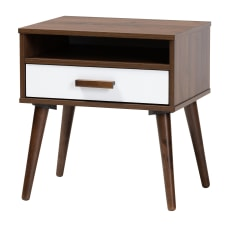 Baxton Studio 2 Tone End Table