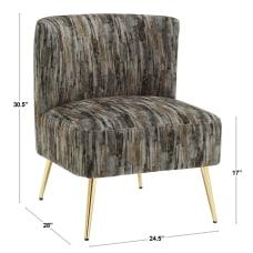 LumiSource Fran Slipper Chair GrayGold