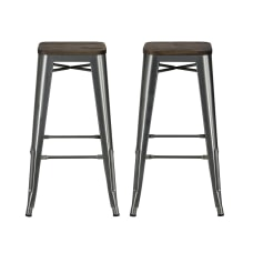 DHP Fusion Backless Bar Stool Charcoal