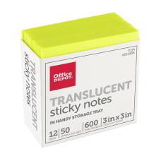 Office Depot Brand Translucent Sticky Notes