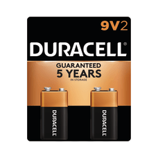 Duracell Coppertop Alkaline 9 Volt Batteries