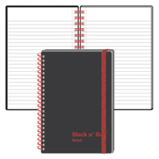 Black n Red Wirebound Notebook 3