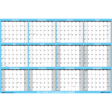 SwiftGlimpse Oversized Erasable Wall Calendar 48