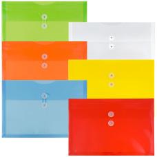 JAM Paper Legal Plastic Booklet Envelopes