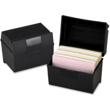 Oxford Plastic Index Card Boxes with