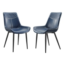 Linon Colette Dining Chairs BlackBlue Set