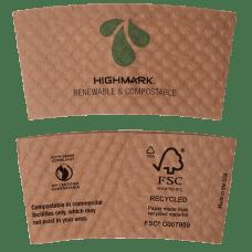 Highmark Compostable Breakroom Hot Cup Sleeves