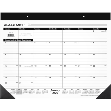 AT A GLANCE Refillable Monthly Desk