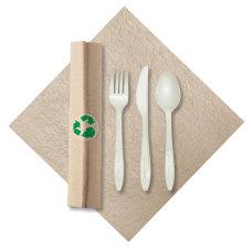 CaterWrap Pre Rolled Cutlery Linen Like