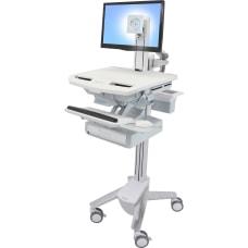 Ergotron StyleView Dual Monitor Telepresence Cart