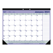Blueline Classic Monthly Desk Pad Calendar