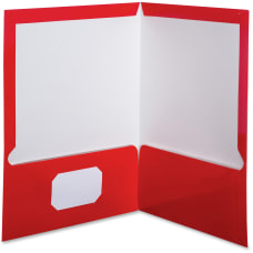 Oxford Laminated Twin Pocket Folders 8