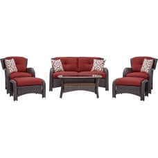 Hanover Strathmere 6 Piece Seating Set