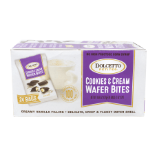 Dolcetto Petites Cookies Cream Wafer Bites