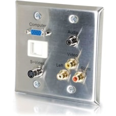 C2G 6 Port Audio Video Faceplate