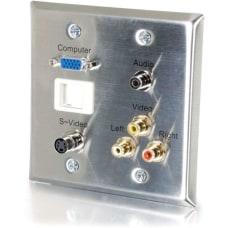 C2G 6 Port Audio Video Faceplate