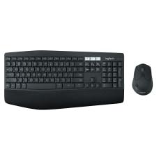 Logitech Wireless Keyboard Mouse ContouredCurved Full