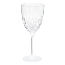 Amscan Plastic Crystal Wine Glasses 8