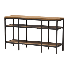 Baxton Studio Xaver Console Table BrownBlack