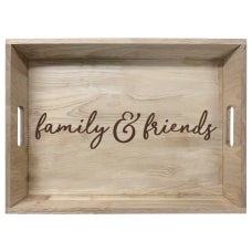 Amscan Friends Family Wooden Tray 11