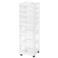 Iris Rolling Plastic 7 Drawer Storage
