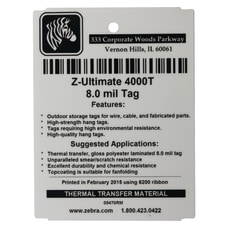 Zebra Z Ultimate 4000T Thermal Transfer
