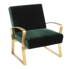 LumiSource Henley Lounge Chair GoldEmerald Green