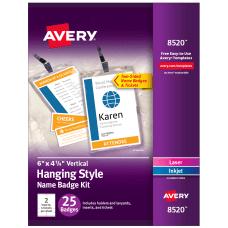 Avery Vertical Name Badge Kit 6