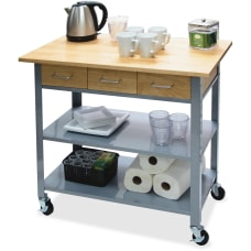 Vertiflex Countertop Serving Cart Solid Wood
