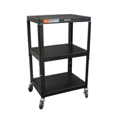 H Wilson Metal Utility Cart Black
