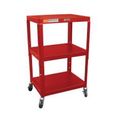 H Wilson Metal Utility Cart Red