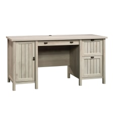 Sauder Costa Computer Desk Chalked Chestnut