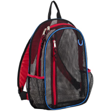 Eastsport Sport Mesh Backpack BlackRedBlue