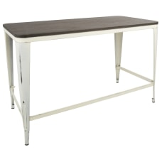 Lumisource Pia Industrial Desk Vintage CreamEspresso