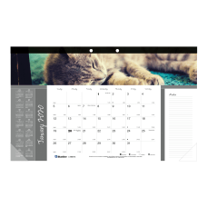 Blueline Furry Collection Monthly Desk Pad