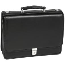 McKlein Bucktown Leather Briefcase Black