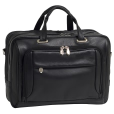 McKlein West Loop Leather Briefcase Black