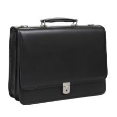 McKlein Lexington Leather Expandable Briefcase Black