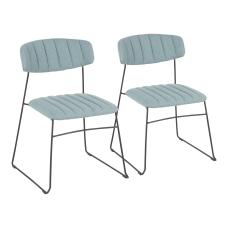 LumiSource Thomas Chairs GreenBlack Set Of
