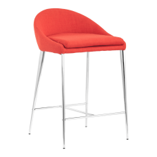 Zuo Modern Reykjavik Chairs TangerineChrome Pack